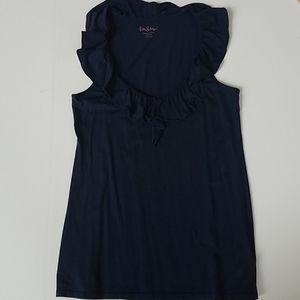 Lilly Pulitzer ruffle neck sleeveless top medium n